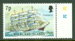 Falkland Is: 1989/90   Cape Horn Sailing Ships  SG573    7p    MNH - Falkland Islands