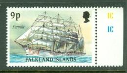 Falkland Is: 1989/90   Cape Horn Sailing Ships  SG575    9p    MNH - Falkland Islands