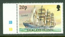 Falkland Is: 1989/90   Cape Horn Sailing Ships  SG577    20p    MNH - Falkland Islands