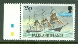 Falkland Is: 1989/90   Cape Horn Sailing Ships  SG578    25p    MNH - Falkland Islands