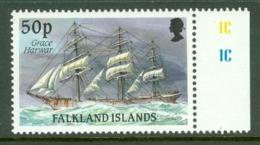 Falkland Is: 1989/90   Cape Horn Sailing Ships  SG579    50p    MNH - Falkland Islands