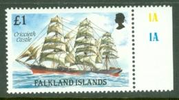 Falkland Is: 1989/90   Cape Horn Sailing Ships  SG580    £1    MNH - Falkland Islands