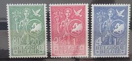 BELGIE  1953    Nr. 927 - 929   Licht Spoor Van Scharnier *   CW  45,00 - Belgique