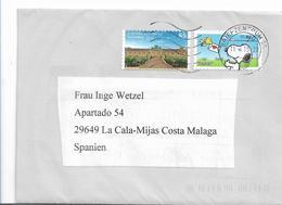 BRD1050 / -  Normaltarif Deutschland - Spanien ( Peanuts + Schloss Sansouci) - [7] République Fédérale