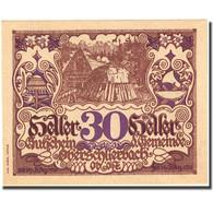 Billet, Autriche, Oberschlierbach, 30 Heller, Village, 1920 SPL Mehl:FS 694 - Autriche