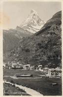ZERMATT → Generalansicht Mit Matterhorn, Eher Seltene Perspektive 1913 - VS Valais