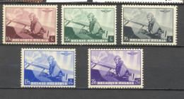 466/470 KONING LEOPOLD III VLIEGENIER POSTFRIS**  1938 - Belgique