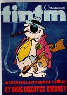 Tintin L'hebdoptimiste N°70 Planche D'autocollants - Cubitus - Bernard Prince - éleveur De Crocodiles De 1974 - Tintin