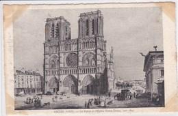 75 PARIS Le Parvis Et L'Eglise Notre Dame ,vers 1840 - Arrondissement: 04