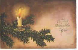 Illustrator - Hannes Petersen - Christmas Branch With Candle,Weihnachtszweig Mit Kerze, Branche De Noël Avec Bougie - Petersen, Hannes
