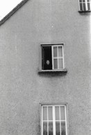 Photo Ancienne Une FEMME LADY FRAU à La Fenêtre De Son Immeuble - Personnes Anonymes