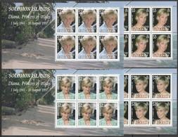 QQ241 SOLOMON ISLANDS DIANA PRINCESS OF WALES !!! MICHEL 45 EURO 4KB MNH - Familles Royales