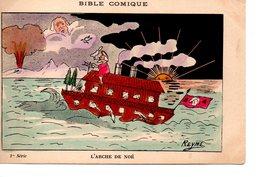 Religion : Carte Anticlèricale : La Bible Comique : L'Arche De Noé - Christianisme