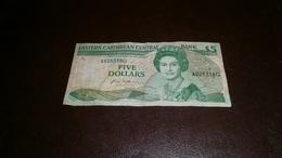 EAST CARIBBEAN STATES - GRENADA 5 DOLLARS - Caribes Orientales