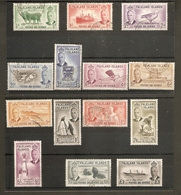 FALKLAND ISLANDS 1952 SET SG 172/185 FINE USED Cat £75 - Falkland Islands