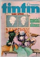 Tintin L'hebdoptimiste N°80 Spécial Animaux - Poster La BRM De Jean-Pierre Beltoise - Ric Hochet De 1974 - Tintin