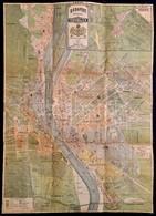 Budapest Főváros Tervrajza. A Leujabb Ujításokkal S A Legjobb Források Után Rajzolva. Dombsovsky és Franke 1885. Litográ - Cartes