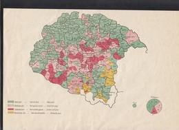 Cca 1915 Az 1869-es Országgyűlési Választások Eredményei, Térkép, Jelmagyarázattal, 20×29 Cm - Cartes