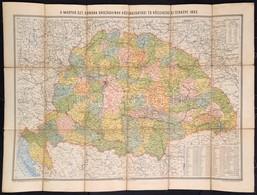 1893 A Magyar Szent Korona Országainak Közlekedési és Közigazgatási Térképe. Rajzolta: Homolka József, 1:300.000, Bp., K - Cartes