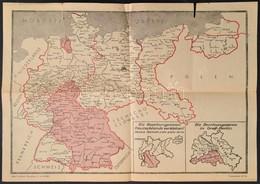 1945 Németország Megszállási Zónái 43x30 Cm - Cartes
