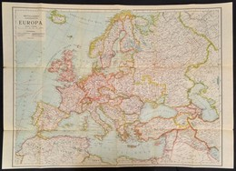 Cca 1920 Freytag Európa Térképe Az új Határokkal. 85x60 Cm Borítóval - Cartes
