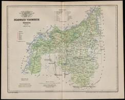 1897 Szabolcs Vármegye Térképe, Tervezte Gönczy Pál, Posner Lajos és Fia, 23×29 Cm - Cartes