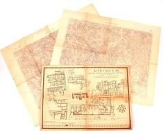Aquincum Térképe 70x48 Cm + Gyöngyös és Pásztó Katonai Térképei - Cartes