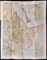 1935 Etiópia/Abesszínia Térképe. 1:5,000.000. Bp., M. Kir. Állami Térképészet, 60x47,5 Cm - Cartes