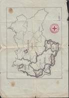 1945 Németország Megszállási Zónái, Térkép, 'Comiét International De La Croix Rouge, Geneve' Illetve '25 Oct. 1945' Bély - Cartes