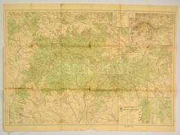 Mátra Hegység, 1:50000, M. Kir. Állami Térképészet, A Hajtások Mentén Szakadásokkal, 65,5×90 Cm - Cartes