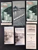 Cca 1940 Budapest 5 Db Turistáknak Szólo Kiadvány, Térképes Ismertető - Cartes