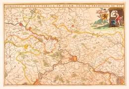 1680 Frederick De Wit (1629/1630-1706): Comitatus Namurci Tabula In Lucem, Namur Megye Térképe. Kézzel Színezett Rézmets - Cartes