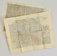 Cca 1910 Bresztovác, Smorze Környéki 2 Db  Katonai Térkép / Military Maps - Cartes