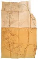 XIX. Sz. Tlács, Acsuca, Gyalu Talácsului Erdélyi Település Telkeinek Kézzel Rajzolt Térképe Pausz Papíron / Hand Drawn M - Cartes