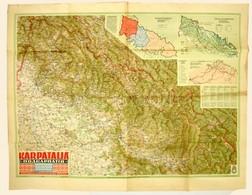 1942 Kárpátalja / Podkarpatiya / Karpatenland / Subcarpathie / Subcarpazia, 1:200000, M. Kir. Honv. Térk. Int., 2. Kiad. - Cartes