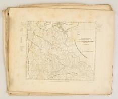 XIX. Sz. Eleje: 13 Db Nagyméretű Rézmetszetű Ország Térkép Jó állapotban 45x55 Cm / 13  Large Etched Maps 45x55 Cm - Cartes