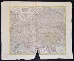 1797 Az Osztrák Birodalom Politikai és Egyházigazgatási Térképe.  Maiestas Austriaca Sive Circul. Archi Ducat. Austriae  - Cartes