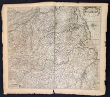 Cca 1650 Nova Totius Westphaliae Descriptio. Westfalia Térképe. Amsterdam, De Wit. Rézmetszet, Szélén Szakadásokkal / Ma - Cartes