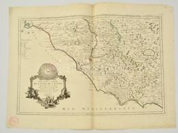 Paolo Santini: Róma, Abruzzia és A Pápai Állam Térképe. Paolo Santini:  Nouvelle Carte De L'Etat De L'Eglise, Dressee Su - Cartes