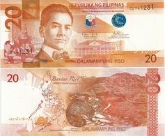 PHILIPPINES      20 Piso      P-206      2016J      UNC - Filippine