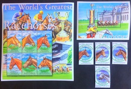 Sierra Leone 2001** The World`s Greatest Racehorses , MNH [26;90] - Chevaux
