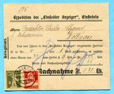 Nachnahme Streifband Von Einsiedeln Nach Wollerau 1932 - Lettres & Documents
