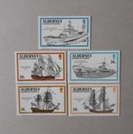 N° 43 à 47       Navires Ayant Portés Le Nom Alderney -  Série Complète  - Neufs - Alderney