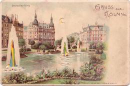 Seltene ALTE  Halt Gegen Das Licht- AK   KÖLN / NRW   - Deutscher Ring -  Ca. 1905 - Halt Gegen Das Licht/Durchscheink.