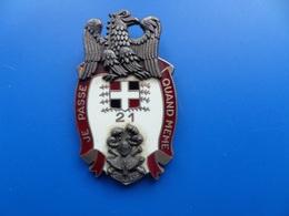 21° Régiment D'Infanterie De Camp, CANJUERS ,insigne Infanterie , Insigne , AB Paris - Armée De Terre