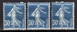 FRANCE 1924/1926 - Y.T. N° 192 X 3 - NEUFS** / DEFAUTS - Ongebruikt