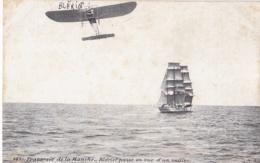 Blériot Traversant La Manche . Carte Publicitaire Grains De Santé Du Dr Franck - Piloten