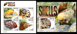 SIERRA LEONE 2019 - Shells. M/S + S/S Official Issue. - Sierra Leone (1961-...)