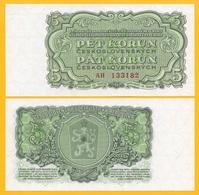 Czechoslovakia 5 Korun P-82a 1961 UNC Banknote - Tchécoslovaquie