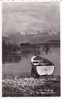 Switzerland Thunersee Eiger Munch And Jungfrau Postcard Bonigen 1963 Postmark With Slogan Used Good Condition - Switzerland
